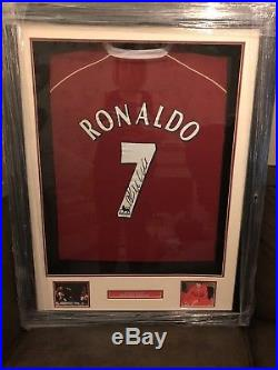 Framed Cristiano Ronaldo Signed Manchester United Shirt Number 7