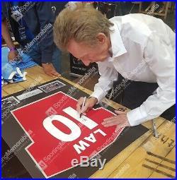 Framed Denis Law Signed Manchester United Shirt Number 10 Autograph Jersey