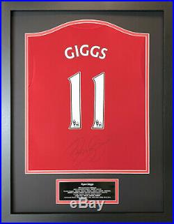 Framed Ryan Giggs Signed Manchester United 11 Shirt See Proof & Coa Football