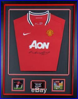 Framed Signed Wayne Rooney Manchester United Shirt. With Coa Superb Deal £135