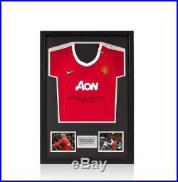 Framed Wayne Rooney Signed 2010-11 Manchester United Baby Shirt Mini Classic F