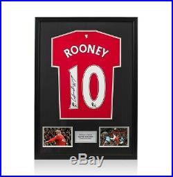 Framed Wayne Rooney Signed 2011-12 Manchester United Shirt Small Classic Frame