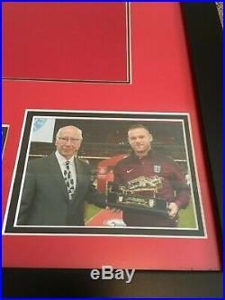 Framed Wayne Rooney Signed Manchester United Shirt 2016/2017 Number 10