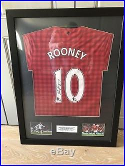 ea4bb595d1c Framed Wayne Rooney signed No. 10 Manchester United t-shirt | Signed ...