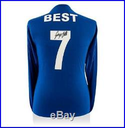 George Best Back Signed Retro Manchester United Away Shirt 1968 European Cup Fi