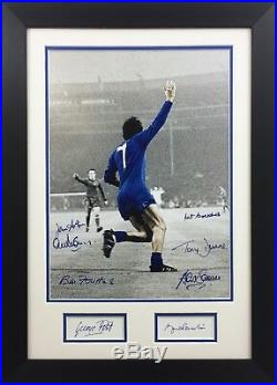 George Best Bobby Charlton +6 Hand Signed Manchester United 1968 European Cup