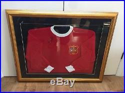 George Best Manchester United Football Shirt Signed Man Utd Northern Ireland COA