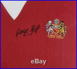 George Best Signed 70's Style Manchester United Shirt 100% Genuine Photo Proof