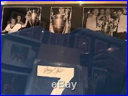 George Best Signed Manchester United 1968 European Cup Champions Shirt Framed