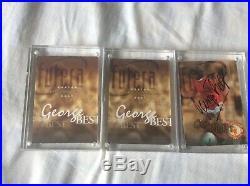 George best FUTERA cards, signed, autograph, coa, VERY RARE, Manchester United, Man U