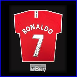 Hand Signed Cristiano Ronaldo Manchester United FC Professionally Framed Shirt