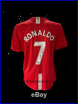 Hand Signed Cristiano Ronaldo Manchester United Shirt Brand New