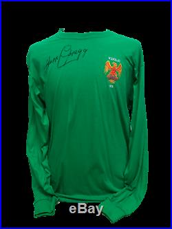Harry Gregg Signed Manchester United 1958 Goalkeepers Shirt Busby Babes Proof