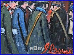 James Downie Original Oil Painting Football Matchday Manchester United / City