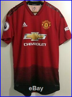Jesse Lingard Manchester United Match Worn Signed Player Issued shirt England
