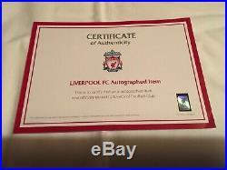 Jordan Henderson signed Liverpool FC match worn shirt v Manchester United