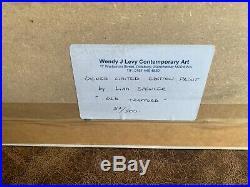 Liam Spencer Old Trafford signed limited edition print framed Manchester United