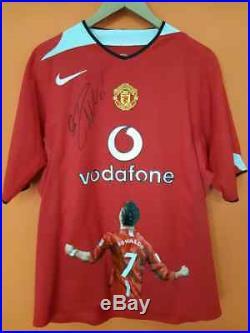 Limited 1/1 Cristiano Ronaldo Signed Manchester United Soccer Jersey PSA COA neu