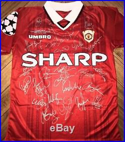 MANCHESTER UNITED TREBLE 1999 Champions League Final Signed Shirt! Ferguson 740bcf97a
