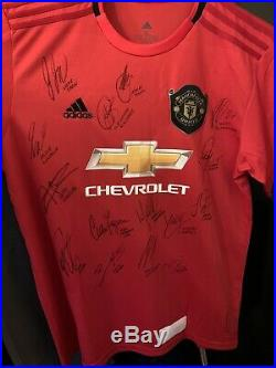 MANCHESTER UNITED hand signed shirt by the 2019/20 squad Inc Sir Alex Ferguson