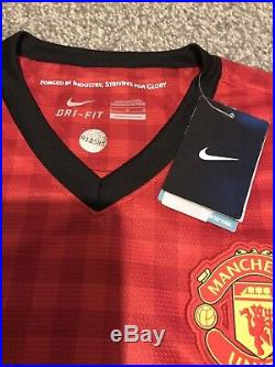 MUFC Hologram COA, Manchester United 2012 2013 PL Winning Squad Signed Shirt