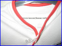 Man United Robin Van Persie Hand Signed White Jersey Unframed + Photo Proof &coa