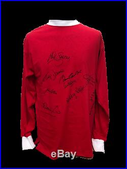 Manchester United 1968 Home Football Shirt Signed By 10 With Coa Proof Charlton