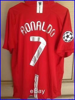 watch 9e786 3de70 Manchester United 2008 Ucl Signed Autograph Shirt 7 Jersey ...