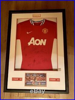 Manchester United 2010-2011 Framed Team Signed Shirt