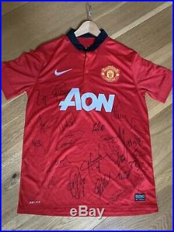 Manchester United 2013/14 Squad Signed Shirt