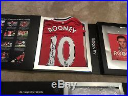 Manchester United 3 Boxsets Signed Rooney Champions 08, 19 Shirt Limited Edition