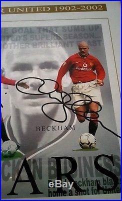 51ed20f85 Manchester United Beckham Cantona Best Charlton Law Signed 100 Yrs ...