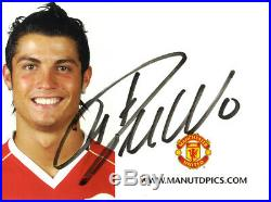 Manchester United F. C. & Portugal Cristiano Ronaldo Hand Signed Club Photocard
