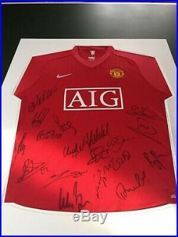 Manchester United Football Signed 18 Shirt 2008 Ronaldo Champions League Man Utd
