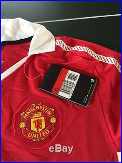 Manchester United Football Signed X14 Shirt 2010 11 Rio Park Vidic Evra Man Utd