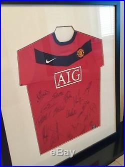 Manchester United Framed Squad Signed Shirt X20 Offical Man Utd Club Issued Coa