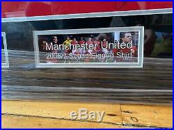 Manchester United Full Team Signed 06/07 Football Shirt Jersey Framed With COA