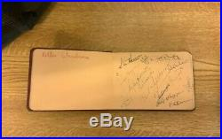 Manchester United Hand signed Autograph Book.'Busby Babes' 56-57 Season