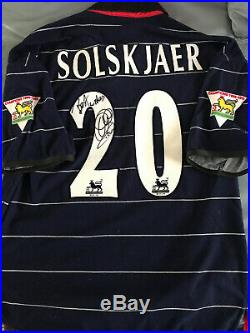 Manchester United Manager Match Worn Shirt 1999 Signed Solskjær Historic Era