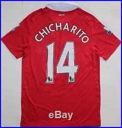 36ae2181b3d Manchester United Match Worn Chicharito Shirt Signed x 17 2010 2011 Nike