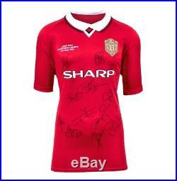 Manchester United Multi Signed 1999 Champions League Final Shirt Autograph