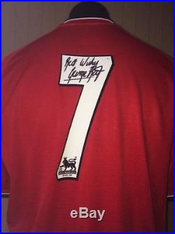 Manchester United Number 7 Shirt Signed By George Best With Guarantee