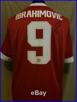 Manchester United Number 9 Shirt Signed By Zlatan Ibrahimovic With Guarantee