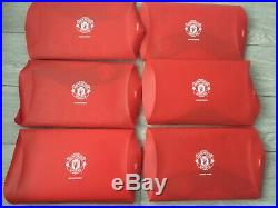 Manchester United Official Club Signed Shirts X6 Man Utd Autographed Coa Rare