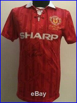 Manchester United Retro 1992 1994 Shirt Signed By Eric Cantona With Guarantee