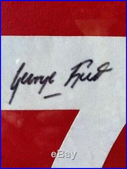 Manchester United Retro Hand Number Signed George Best Shirt With COA! Rare