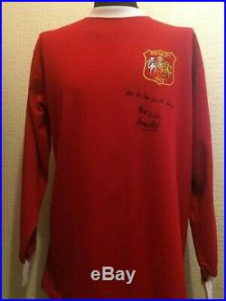Manchester United Retro Wembley 1963 Shirt Signed George Best With Guarantee