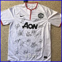 Manchester United S/S Away 2012-13 EPL Champions Signed By 18 Replica Shirt
