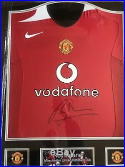Manchester United Shirt Hand Signed By Roy Keane Framed & Certified COA Inc