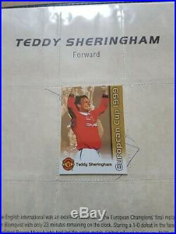 Manchester United Signed 1999 European Cup Winning Folder